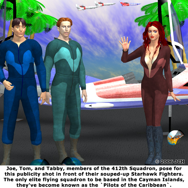 Pilots of the Caribbean: Rendered completely in Poser 6.