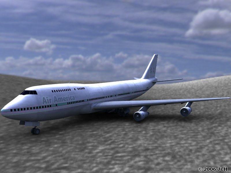 Flight 727, You`re Off Course: A test render of the 747 JumboJet: image made in Vue using HDRI.