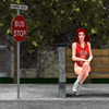 Click to see the full-sized image: 'The Girl at the Bus Stop'.