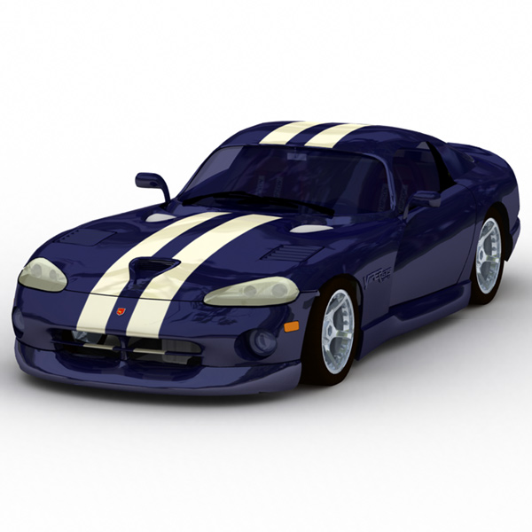 Dodge Viper: A GI-rendered image of the DeEspona Dodge Viper.