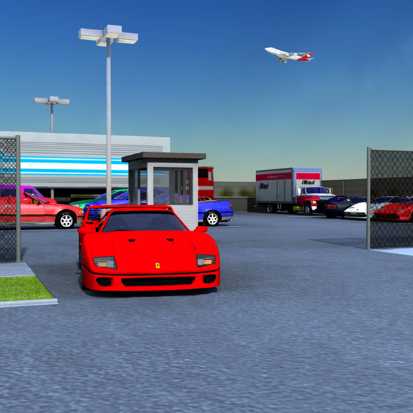 On The Lot: An Image-Based Lighting (IBL) image of the Vanishing Point cars and trucks on the Parking Set.
