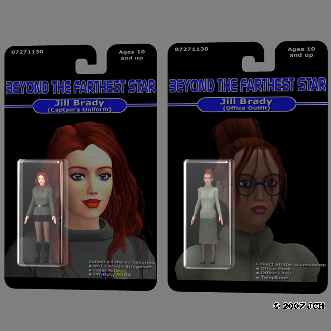 Beyond the Farthest Star Action Figures 1: Some early designs for the lead character,