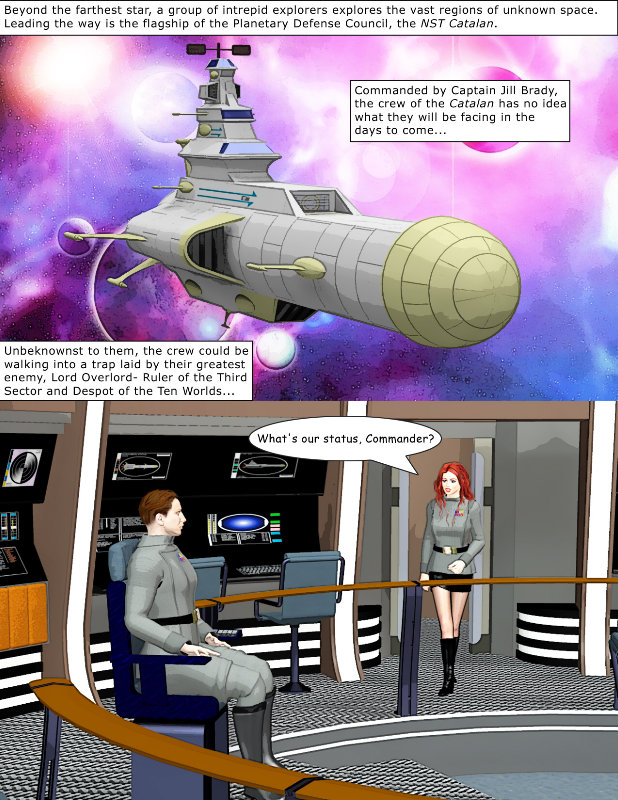 Beyond the Farthest Star, Page 1: Page 1 of my long-in-the-works graphic novel,