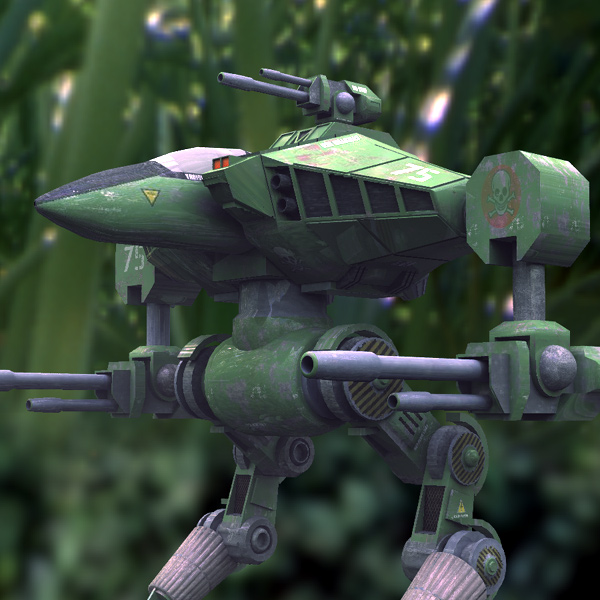 Cougar Robot Mech in Green: A Vue HDRI render of the Cougar Robot Mech.