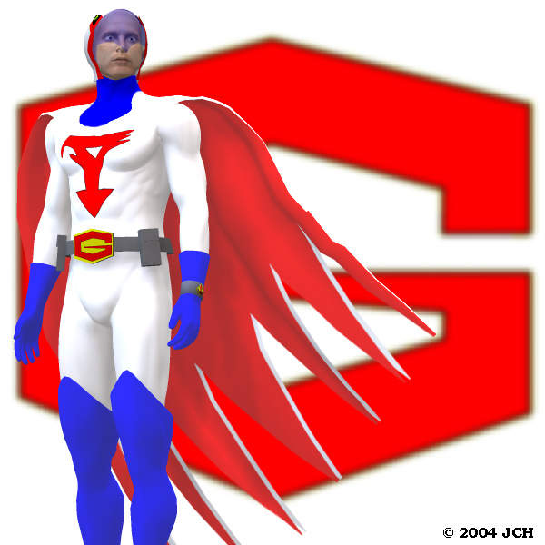 Mark of G-Force: Mark, of G-Force, from <i>Battle of the Planets</i>.