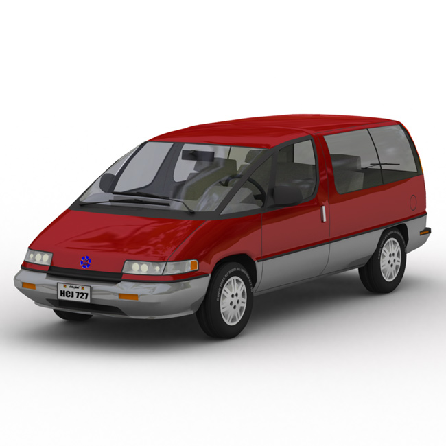 Family Minivan GI: A global-illuminated (GI) render of the Family Minivan, made in Lightwave.