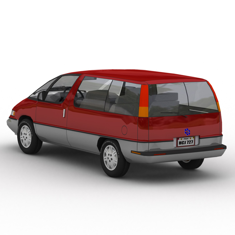 Family Minivan GI 2: Another image of the Family Minivan, rendered in Lightwave using Global Illumination (GI).