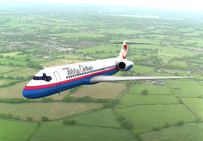 Tabby Airlines: The Airliner 717 model with a