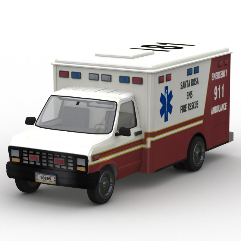 Ambulance GI: A Global Illumination (GI) Lightwave-rendered image of the new Ambulance model made by mrsparky and me.