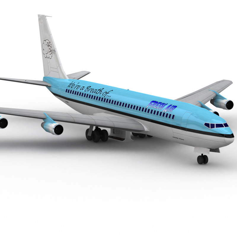 707: Fresh Air: Another Lightwave-rendered image of the 707 aircraft model, with `Fresh Air` paint scheme.