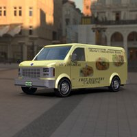 Click to see the full-sized image: 'Delivery Van Vue HDRI'.