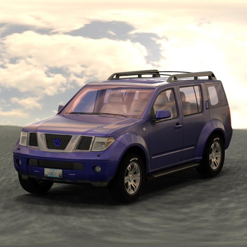 SUV IBL: Another test using Image-Based Lighting with Poser Pro 2010. The reflection maps on the vehicle are .hdr format, which gives it a little reddish tint.