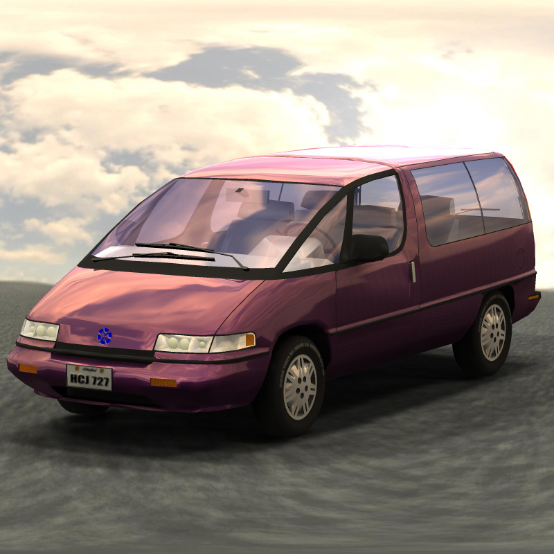 Minivan IBL: Another test using Image-Based Lighting with Poser Pro 2010.