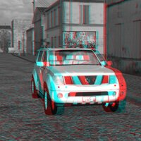 SUV 3D Red and Blue