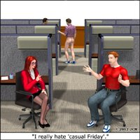 Click to see the full-sized image: 'I Really Hate Casual Friday (humor)'.