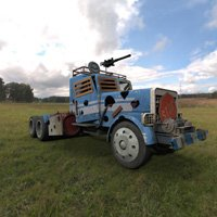 Click to see the full-sized image: 'Hells Hauler in a Field'.