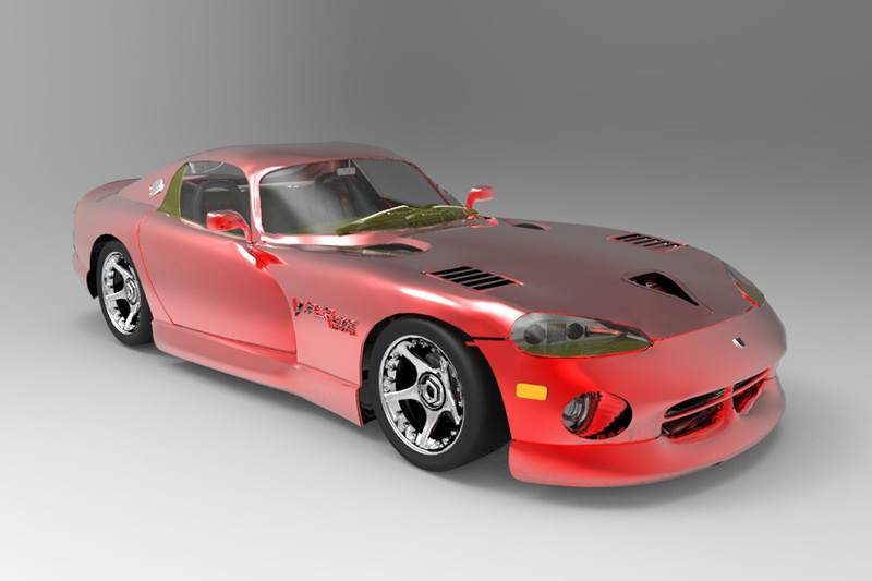 Dodge Viper 2013: A image of the Dodge Viper using an all-new rendering technique.