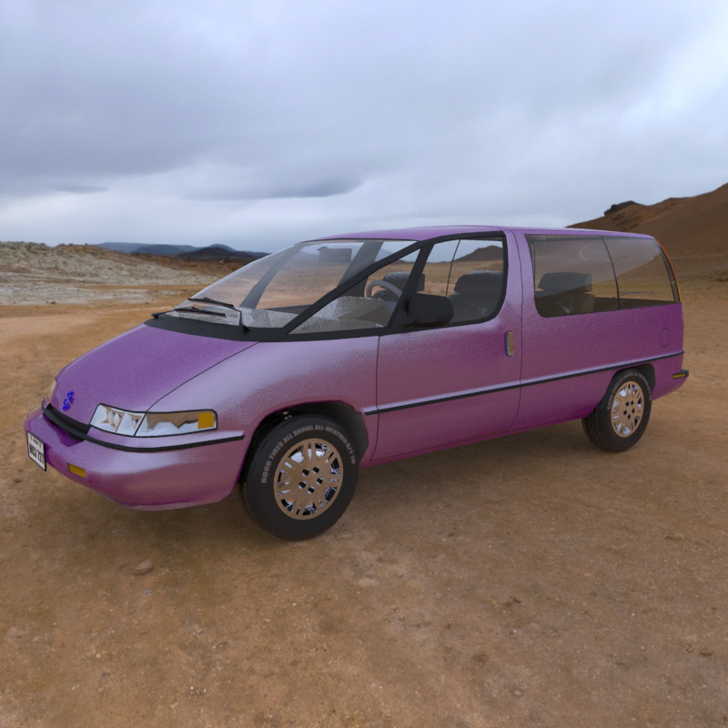 Minivan 2013: An image of the Family Minivan, rendered with HDRI.