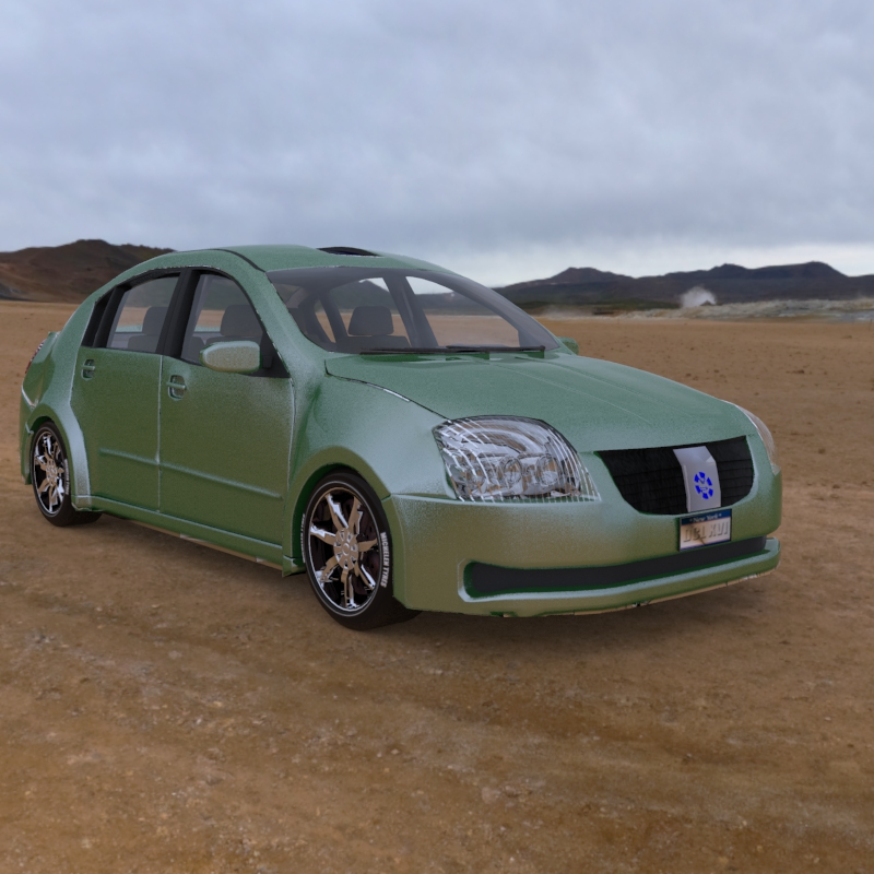 Vandura Sedan Car 2013: An HRDI rendered image of the Vandura Sedan car.