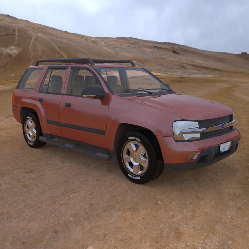 Trailfinder 2013: An HDRI rendered image of the Trailfinder SUV.