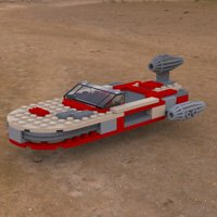 Click to see the full-sized image: 'Modular Brick Landspeeder 2'.