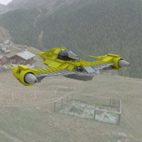 Click to see the full-sized image: 'Modular Brick Naboo N1 Flyby'.