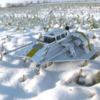 Click to see the full-sized image: 'Modular Brick Snowspeeder 10129 2'.