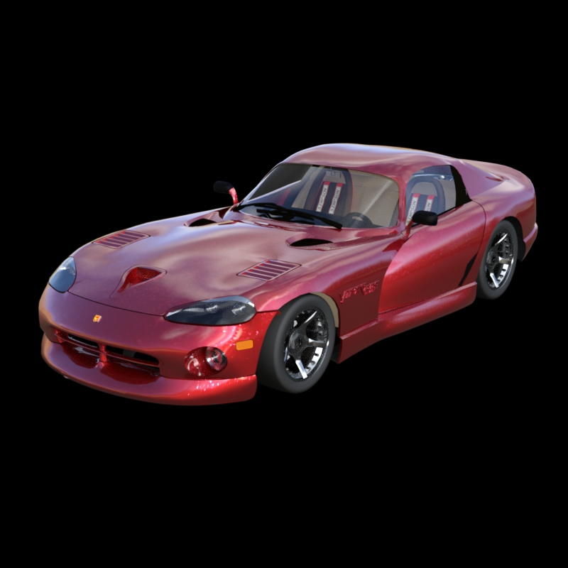Dodge Viper Iray: Experimenting with DAZ Studio`s Iray renderer.