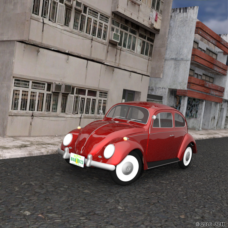 VW Beetle Iray: An image of the VW Beetle made in DAZ Studio 4.9 with Iray.