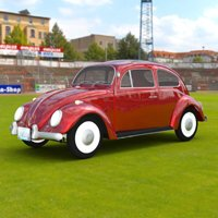Click to see the full-sized image: 'VW Beetle In A Stadium'.