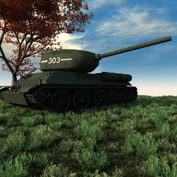 T-34 85: This is a Promo Image of my new T-34 85 Tank that didn`t make it. Nice to know it will go to some use.