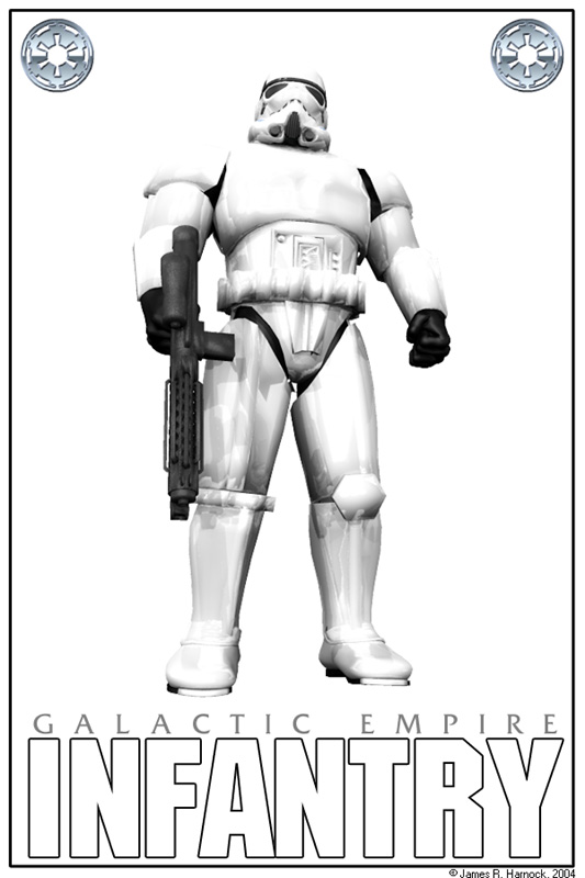 Imperial Infantry: Poser5, Photoshop7.