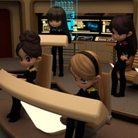 Click to see the full-sized image: 'Cookies on the TNG Bridge'.