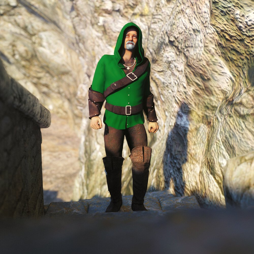 The Archer: The archer walks down the mountain... to doom or glory?