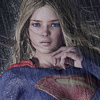 Click to see the full-sized image: '`Dark City` Series Print Supergirl'.