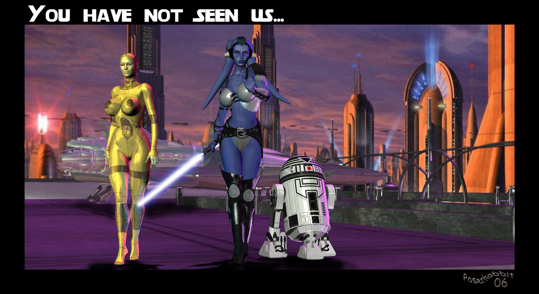 You Have Not Seen Us: A Twi'lek Jedi and her companions...