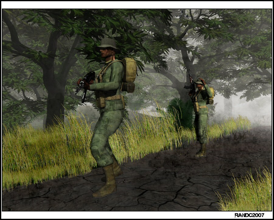 Patrol: A SOG Patrol during the Vietnam war.