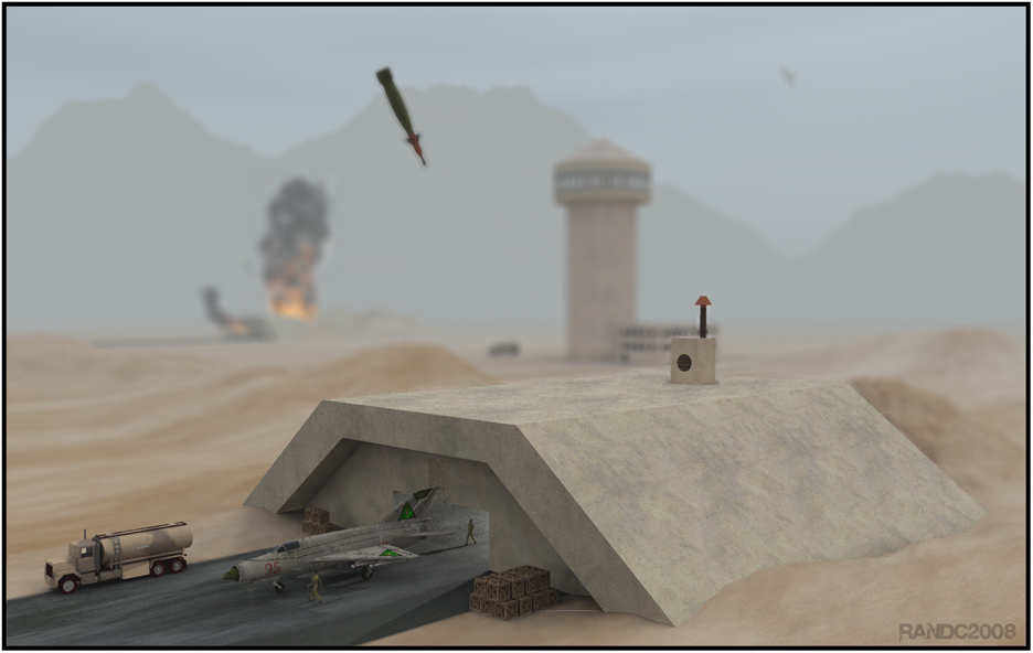 Bunker Buster: Modeled the bunker and bomb in Rhino4.