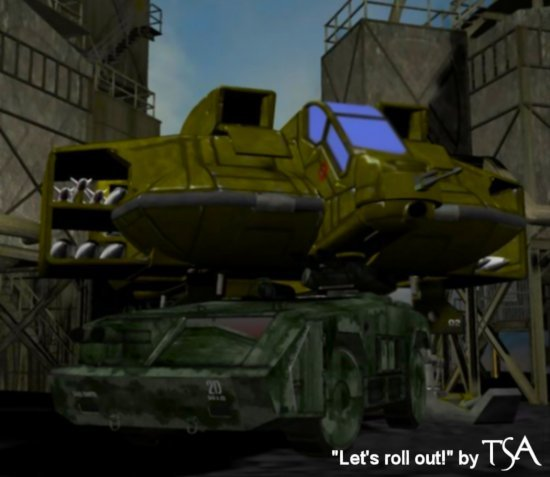 Let`s roll out!: Created using Poser and a host of other art programs.