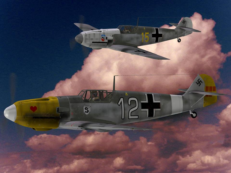 JG 77 Karl Woiff Yellow 15 and Red Hreat White 12: Bf 109 By Bazze