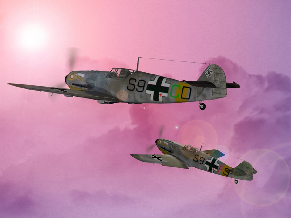 WASPs in the Sunrise: Bf 109 By Bazze
