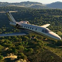 Click to see the full-sized image: 'Cessna Citation In Flight'.