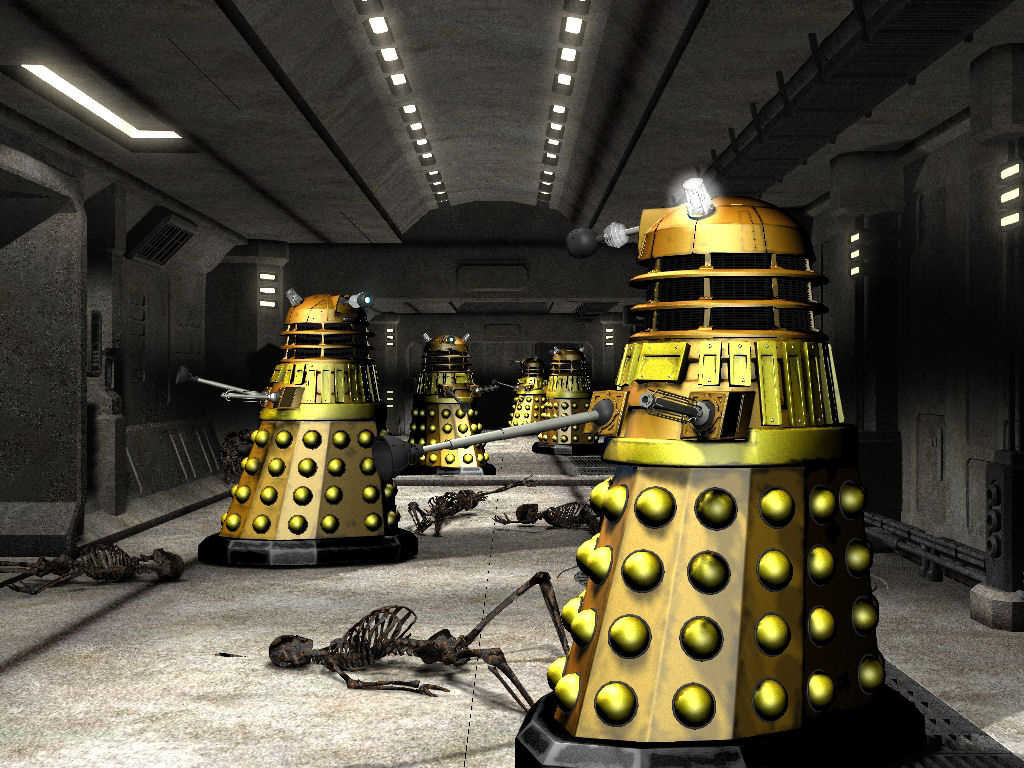 Dalek Attack: Not finished yet, needs a lot of work yet, smoke and damage mostly, all done in LW8 no postwork