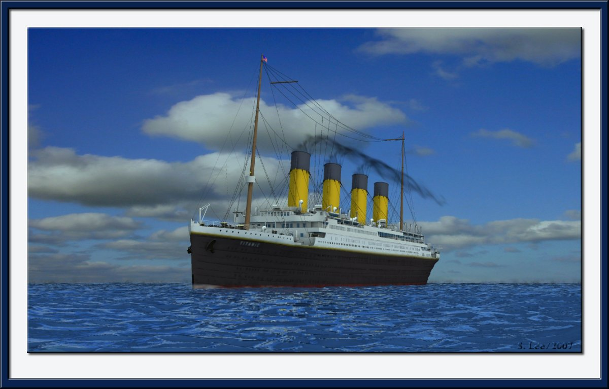Titanic: Rendered in Poser 7
