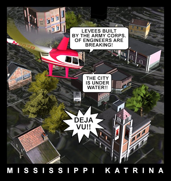 Mississippi Katrina: The flooding of the Mississippi reminds us of another disaster.