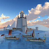 Click to see the full-sized image: 'Pharoah`s Lighthouse Day'.