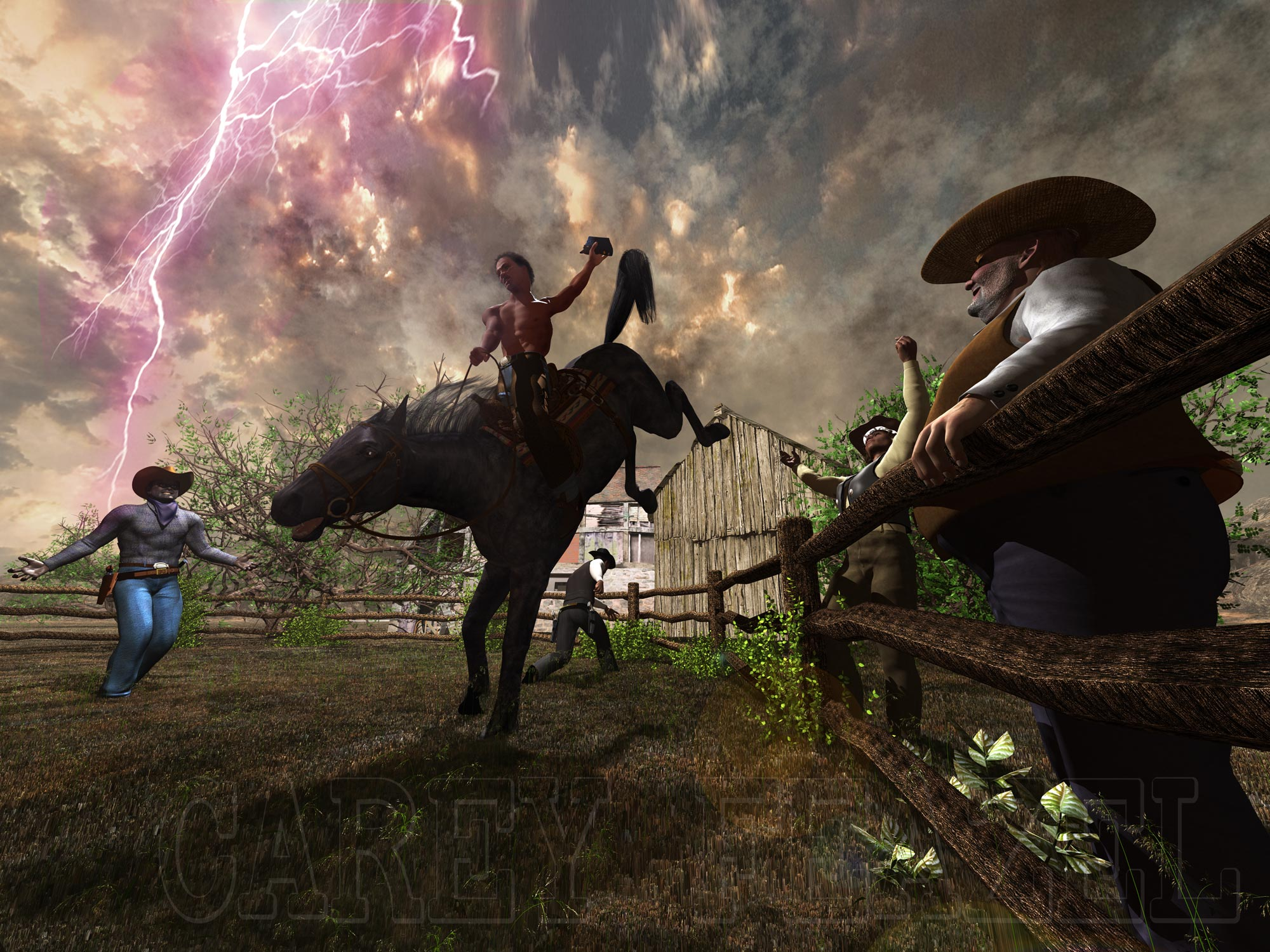 Taming Lightning: Although your intention was to saddle break a horse, The degree of difficulty sometimes varies.....