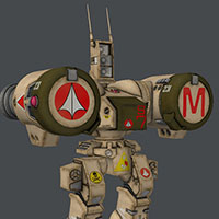 Click to see the full-sized image: 'Retextured Robotech Destroid models'.