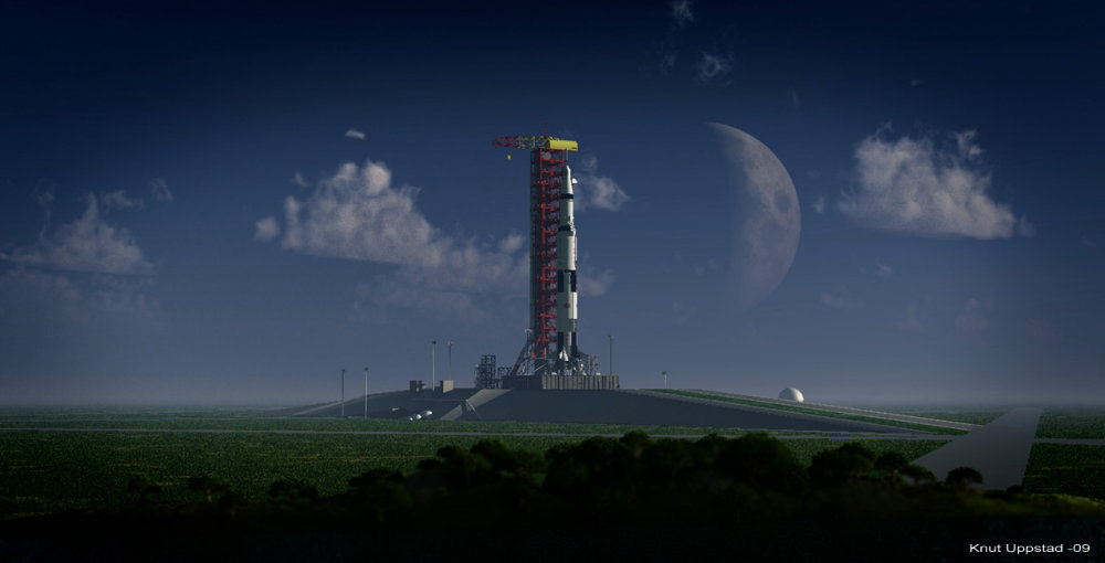 Saturn on pad: Rendered in Vue 7Pro Studio.