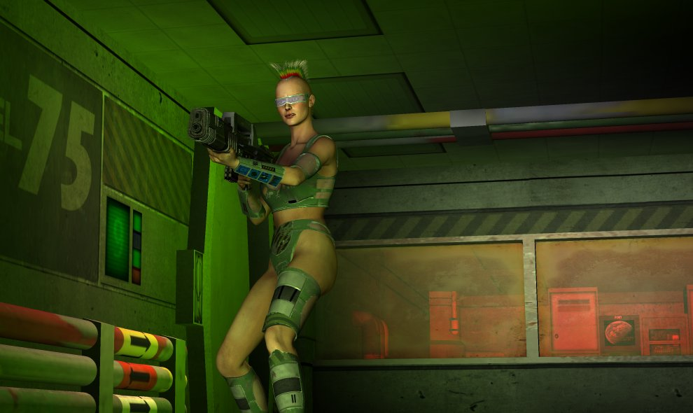 Gun Girl: This image serves 2 purposes. 